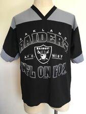 """VTG 1996 ~ OAKLAND RAIDERS """"NFL ON FOX"""" Jersey ~ V-Neck ~ Medium ~ Football"""