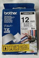 More details for genuine brother 12mm x 8m laminated label tape cassette p-touch tz-231