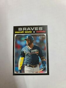 2020 Topps Heritage High Number #723 Marcell Ozuna Silver