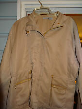 Kenneth Too Ladies Womens Jacket Size Large Tan Comfy Cozy NEW