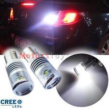 2 White High Power 10W CREE 1156 7506 P21W LED Backup Reverse Light Mirror Bulbs