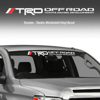 TRD Off Road Windshield Tacoma Tundra Toyota Vinyl Decal Truck Sticker Graphic Q