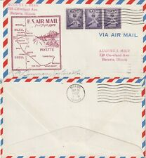 US 1952 AM 77 FIRST FLIGHT FLOWN COVER PAYETTE IDAHO TO BOISE IDAHO