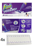 4 X Flash Power Mop Refill Pads- 4 Individual Pads
