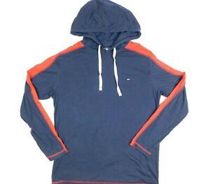 Tommy Hilfiger Sleepwear Lightweight Hoodie Men Large Blue And Red