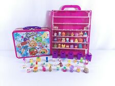 Shopkins Pink Storage Case With 50+ Shopkins Figures and Metal Lunch Box