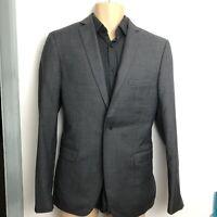 T.M.Lewin Mens Royal Ascot Dancing Brave Slim Fit Jacket in Light Grey Barberis