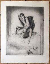 Chimot Edouard gravure signée érotisme, beauté sublimée, rêverie, fantasmes Art