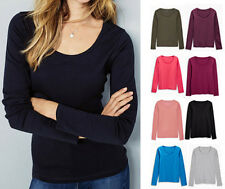 EX NEXT LADIES LONG SLEEVE COTTON TOP VARIOUS COLOURS 12 14 16 18 22 24 26 *NEW*