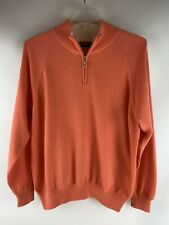 Hawick of Scotland Men's 100% Cashmere Sweater 3/4 Zip Pullover Size XL, 03