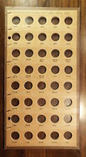Lg Vtg Meghrig Wayte Raymond style NICKEL FIVE CENT PIECES 1903-1921 Coin Board