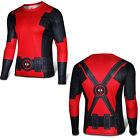 Super Héros Marvel Hommes T-shirt Compression Jersey Gym Haut Tenue de sport Top