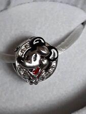 Genuine CHAMILIA 925 Silver DISNEY's MICKEY MOUSE PORTHOLE Bead Charm RRP £45
