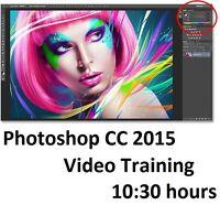 Photoshop CC 2015 Video Training 10:30 hours
