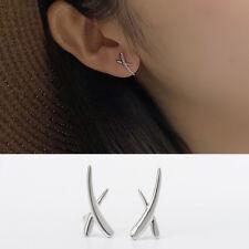 """Damen Ohrstecker """"X"""" echt Sterling Silber 925 Ohrringe"""