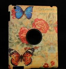 For Apple iPad 2 3 4 Butterfly Back Hard Case Cover -