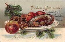 BG8367 festive table fir branch embossed weihnachten christmas greetings germany