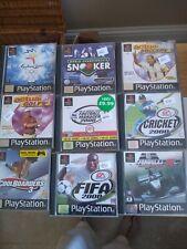 Playstation Sports Spielepaket gebraucht 9 Spiele insgesamt