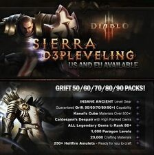 Diablo 3 RoS | Grift 70 Pack - Available on EU/US - SC! Any Class to GRIFT 70!
