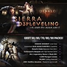 Diablo 3 RoS | Grift 80 Pack - Available on EU/US - SC! Any Class to GRIFT 80!