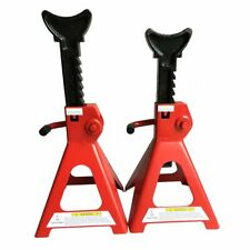 1 Pair Racing Jack Stands 3 Ton 6000 Lb Heavy Duty For Car Truck Auto Red