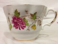 Vintage Royal Dover Bone China Pink Roses Tea Cup VTG Cute Old Fancy a808-219
