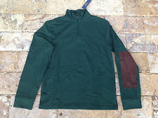 $185 Polo Ralph Lauren Men's French Terry Mockneck Pullover, Green, Size S.