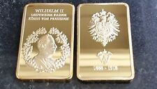 1 OZ (ca. 28.35 g) BARRA KAISER WILHELM + BARRA COMMEMORATIVE II CASE GOLD Imperatore Tedesco King