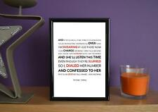 Framed - The Script - Nothing - Poster Art Print - 5x7 Inches