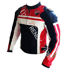 Ducati Motorbike Motorcycle Racing Leather Riding Jacket.CE Protected