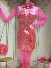 1997 barbie Doll fashion avenue sheer sleeves party stockings satin #18155 NRFB