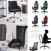 Velvet Home Task Chair Swivel Gaming Office Chairs Storage Armrest Seat Stools