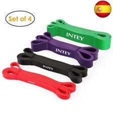INTEY Bandas de Resistencia, 4pcs Bandas Elasticas de  (Red+Black+Purple+Green)