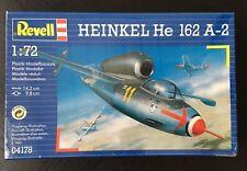 WW2 GERMAN LUFTWAFFE SECRET JET PROJECT HEINKEL He 162A-2 1:72 SCALE MODEL