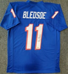 NEW ENGLAND PATRIOTS DREW BLEDSOE AUTOGRAPHED SIGNED JERSEY BECKETT HOLO
