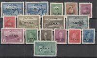 Y4640/ CANADA – OFFICIAL – 1949 / 1950 MINT SEMI MODERN LOT – CV 320 $