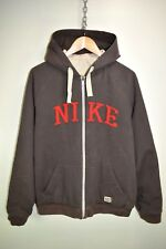 NIKE REVERSIBLE  ZIP UP BOMBER JACKET HOODY HOODIE THICK TRACK TOP size LARGE