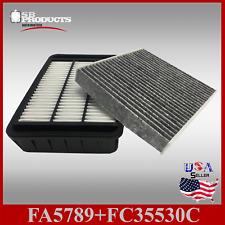 FA5789 FC35530C(CARBON) ENGINE & CABIN AIR FILTER ~ 2008-17 LANCER 2.0L & 2.4L