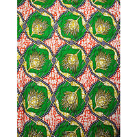 African Peacock Feather Print Fabric BY 1/2 YARD CONTACT US IF TROUBLE ORDER1311