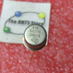 2N404 Texas Instruments Germanium PNP Transistor - NOS Vintage Qty 1