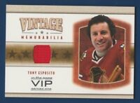 TONY ESPOSITO 03-04 IN THE GAME VIP 03-04 VINTAGE MEMORABILIA JERSEY RARE 16197