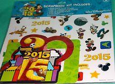 DISNEY PARKS 2015 SCRAPBOOKING KIT DISNEY WORLD CHARACTERS SCRAPBOOKING KIT NEW