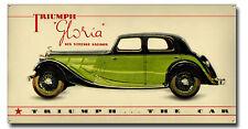 "THE CLASSIC TRIUMPH GLORIA SIX VITESSE SALOON CAR METAL SIGN.16""WIDE X 8""HIGH."