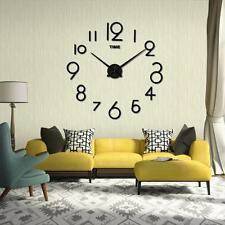 Wall Clock Living Room DIY 3D Home Decoration Mirror Large Art Design Removeable