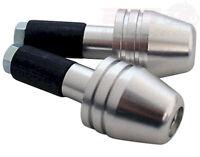 Lenkerenden Lenkergewicht silber Alulenker handle-bar ends, alu, black, f. alu