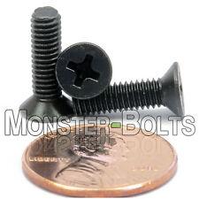 M4 x 14mm - Qty 10 - DIN 965 Phillips FLAT HEAD Machine Screw Black Ox - Type H