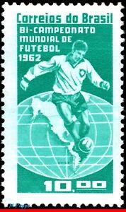 949 BRAZIL 1963 WORLD CUP, BRAZIL CHAMPION 1962, SPORT, SOCCER FOOTBALL, MNH