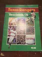 1978 Texas Rangers Baseball Yearbook