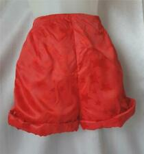 RED SATIN Pin-Up STAR PATTERNED Vintage 1960s Hot Pants SHORTS - SM