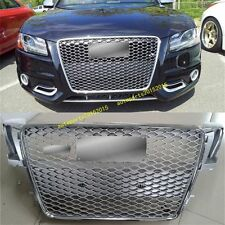 RS5 Front Sportback Euro Sline Grille Gunmetal For Audi A5 8T SFG S5 2008-2012
